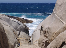 Rocks and sea. In Corsica royalty free stock photo