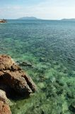 Rocks and sea. With clear sea water Royalty Free Stock Photo