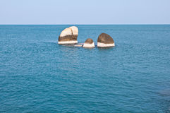 Rocks in the sea. Group of rocks in the sea Royalty Free Stock Photo