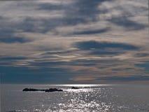 Rocks in sea. Rocks in the sea under beatiful light Stock Photos