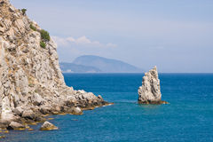 Rocks in the sea. Near the Yalta.Crimea.Ukraine Royalty Free Stock Image