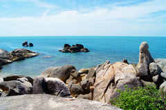 Rocks and Sea (Samui Island, Thailand) Stock Images