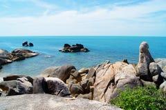 Rocks and Sea (Samui Island, Thailand) stock images