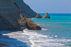 Rocks in the Sea. Greece, Corfu Royalty Free Stock Image