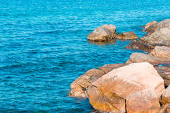 Rocks in the sea. Rocks in the turquoise sea Stock Images