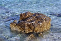 Rocks in the sea. Rock and sea Royalty Free Stock Image
