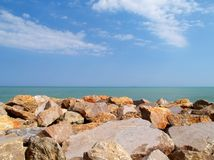 Rocks by the sea Royalty Free Stock Photos