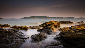 Rocks sea. Arab beach beauty clouds coast coastline dead desert east environment Stock Image