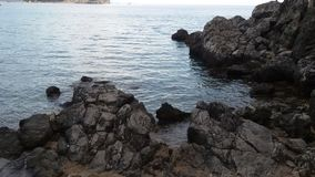 Beach in Montenegro. Rocks and sea Royalty Free Stock Photos