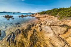 Rocks by the sea in Caprera island. Sardinia Royalty Free Stock Images