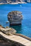 Rocks, sea and coast of Bonifacio, Corsica Royalty Free Stock Photography