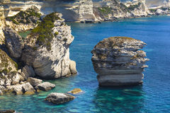 Rocks, sea and coast of Bonifacio, Corsica Stock Photography