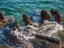 Rocks in the sea, Croatia Stock Photos