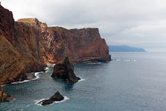 Rocks in the sea on island of Madeira Stock Images