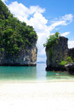 Rocks and sea in Krabi Royalty Free Stock Photo