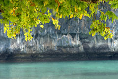 Rocks and sea in Krabi Thailand Stock Images