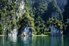 Rocks and sea in Krabi Thailand Royalty Free Stock Photos