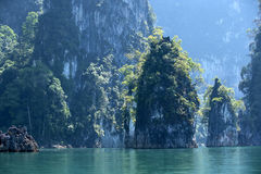 Rocks and sea in Krabi Thailand Royalty Free Stock Images