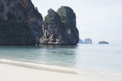 Rocks in the sea, Krabi, Thailand Royalty Free Stock Photo