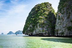 Rocks and sea Landscape on island in Thailand, Phuket Royalty Free Stock Photos