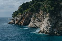 Rocks in the sea, Montenegro Royalty Free Stock Images
