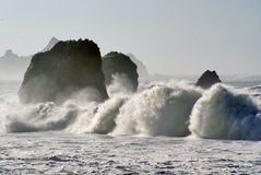 Rocks and sea. Picture of the waves of the sea with rocks Royalty Free Stock Images