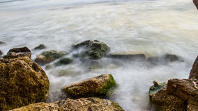 Rocks By the Sea Stock Photography