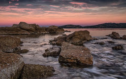 Rocks on the sea. Rock on the sea in Cannigione - Sardinia Stock Photos