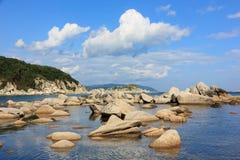Rocks in sea Royalty Free Stock Photos