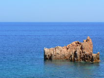 Rocks in sea. In Arbatax, Sardinia, Italy Royalty Free Stock Image