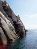 Rocks and sea in Sardinia Royalty Free Stock Images