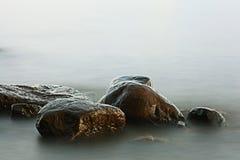 Rocks sea shore Stock Photos