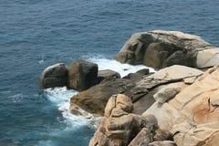 Rocks on the sea shore of Sanya. China Royalty Free Stock Image
