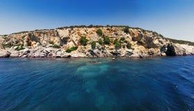 Rocks sea and sky landsape Stock Image