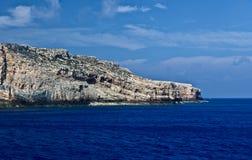 Rocks sea sky mountains, Balos, Gramvousa, Crete Greece Stock Photo