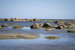 Rocks in the sea . summer landscape Royalty Free Stock Photo