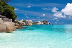 Rocks and sea. Summer sea sky sunshine exotic island sunny Royalty Free Stock Photos