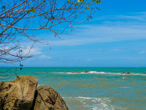 Rocks, sea tree and blue sky at Khaolak-Lumru National Park Phang-nga, Thailand Stock Photography