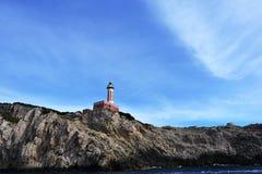 Lighthouse on mountain Royalty Free Stock Photo
