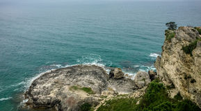 Rocks and sea view. Cliff and sea view in istanbul royalty free stock photography