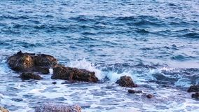 Rocks and the Sea stock video footage