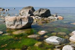 Rocks on the seacoast Royalty Free Stock Images