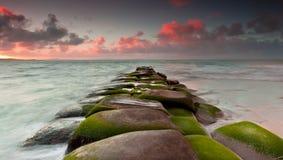 Rocks by seashore Royalty Free Stock Photos