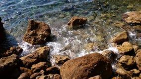 Rocks in the seashore of Catalonia Stock Photo