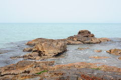 Rocks on seashore Royalty Free Stock Images