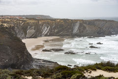 Rocks and see in Portugal west coast Royalty Free Stock Images