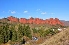 Rocks Seven Bulls in Dzhety-Oguz Royalty Free Stock Photo