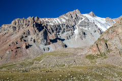 Rocks with sharp edges in Tien Shan mountains Stock Photography