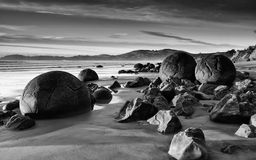 Rocks  Shore Black and White Royalty Free Stock Photos
