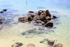 The rocks on the shore of the Indian ocean Royalty Free Stock Images